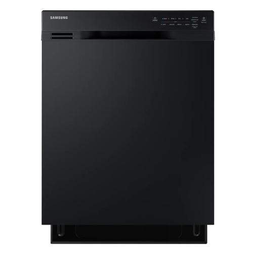 DW80J3020UB/AC 24-Inch Front Control Built-in Dishwasher With Stainless Steel Tub - Black