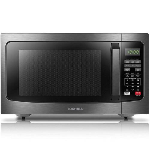 EM131A5CBS Toshiba 1.2 Cu.ft Microwave Oven Stainless Steel, Black