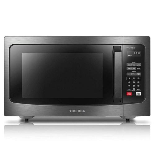 EM245A5CBS 1.6 Cu.ft Microwave Oven Stainless Steel, Black