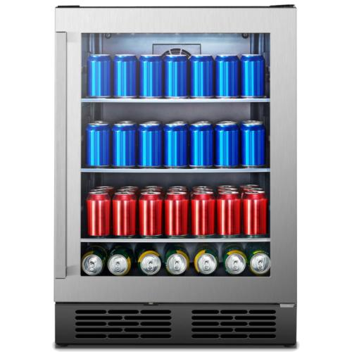 HBC54D6AS 140-Can Capacity Freestanding Beverage Center