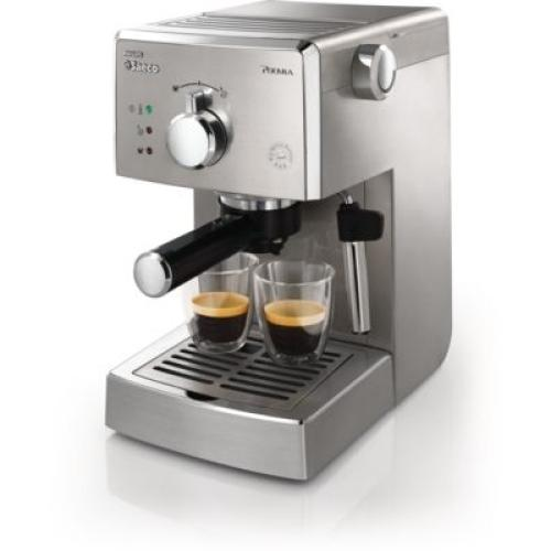HD8327/47 Saeco Poemia Manual Espresso Machine Stainless Steel