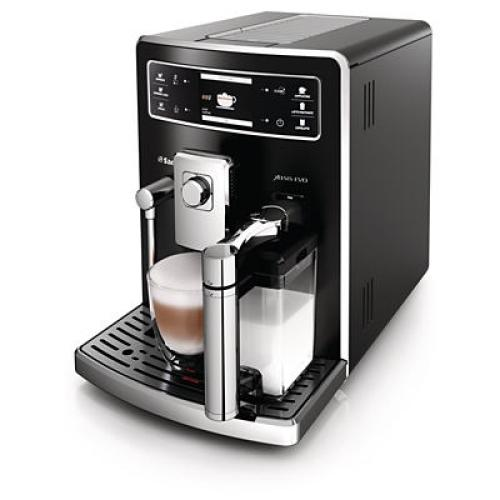 HD8953/09 Saeco Automatic Espresso Machine Integrated Milk Carafe Black Stainless Steel