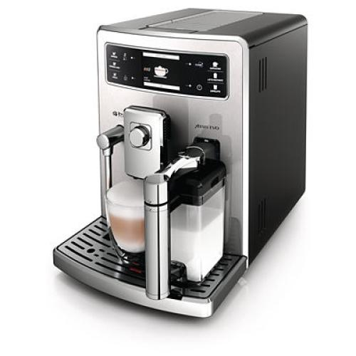 HD8953/11 Saeco Automatic Espresso Machine Integrated Milk Carafe Black Stainless Steel