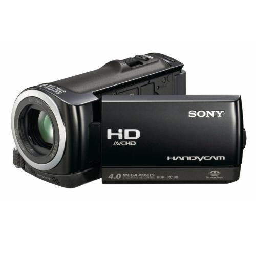 HDRCX100/B Palm-size Hd Camcorder W/ Smile Shutter Technology; Black