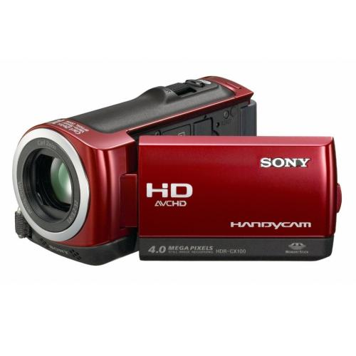 HDRCX100/R Palm-size Hd Camcorder W/ Smile Shutter Technology; Red