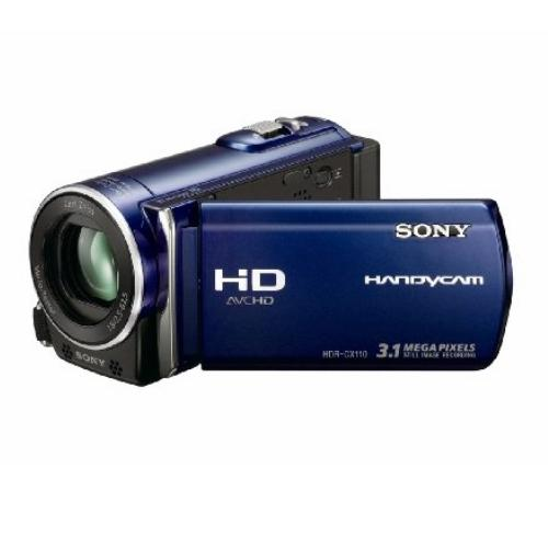 HDRCX110/L High Definition Flash Memory Handycam Camcorder; Blue
