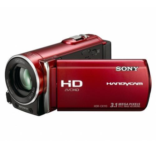 HDRCX110/R High Definition Flash Memory Handycam Camcorder; Red