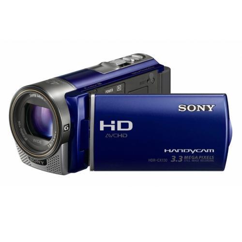 HDRCX130/L High Definition Handycam Camcorder; Blue