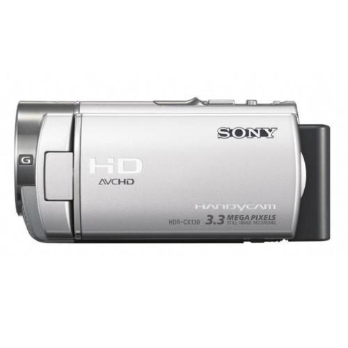 HDRCX130/S High Definition Handycam Camcorder; Silver