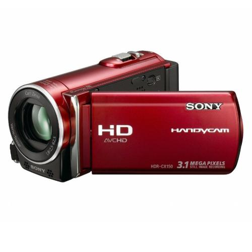 HDRCX150/R High Definition Flash Memory Handycam Camcorder; Red