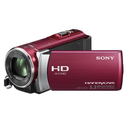 HDRCX210/R High Definition Handycam Camcorder; Red