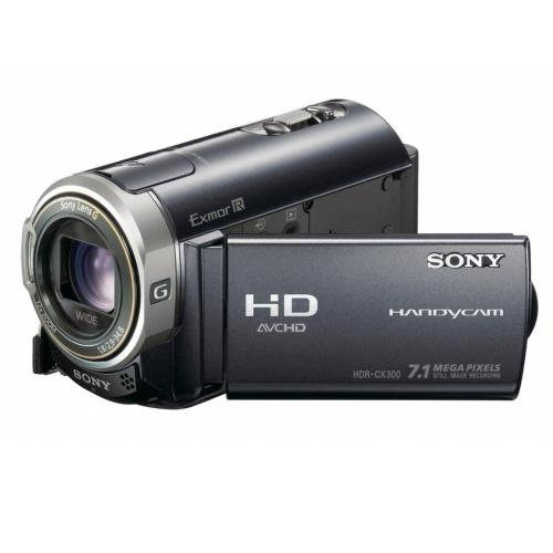 HDRCX300 High Definition Flash Memory Handycam Camcorder; Black