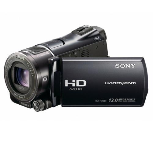 HDRCX550V High Definition Flash Memory Handycam Camcorder; Black