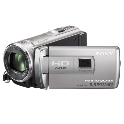 HDRPJ200/S High Definition Projector Handycam Camcorder; Silver