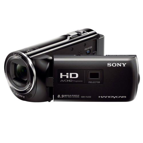 HDRPJ230/B High Definition Projector Handycam Camcorder; Black