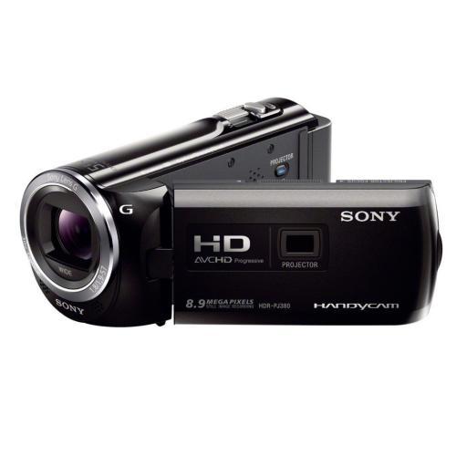 HDRPJ380/B High Definition Projector Handycam Camcorder; Black