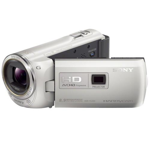 HDRPJ380/W High Definition Projector Handycam Camcorder; White