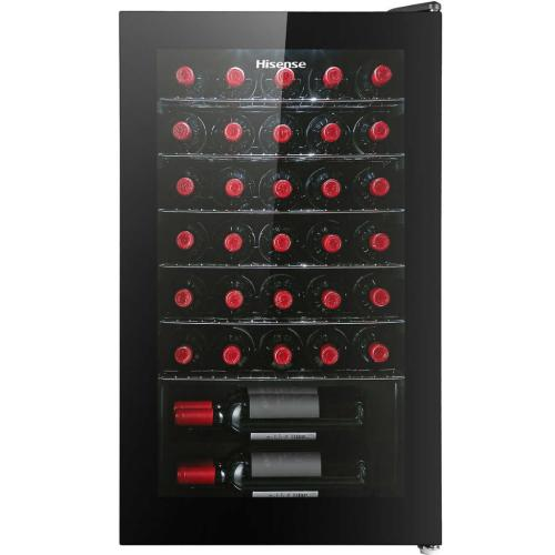 HWS34DA8GB00 34-Bottle Freestanding Or Built-in Single Zone Wine Cooler