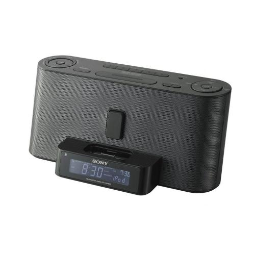 ICFC1IPMK2BLK Speaker Dock/clock Radio For Ipod And Iphone
