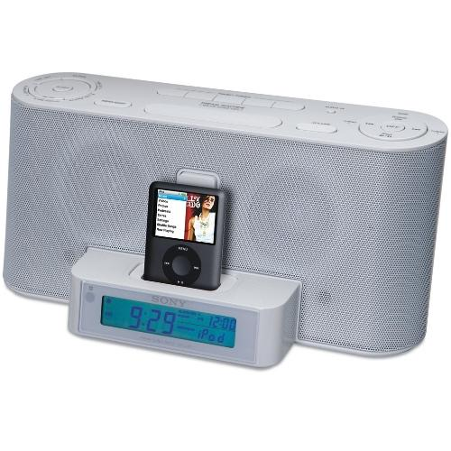 ICFC1IPWHITE Clock Radio With Ipod Dock