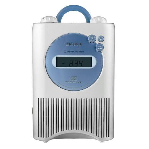 ICFCD73W Am/fm/weather Shower Cd Clock Radio