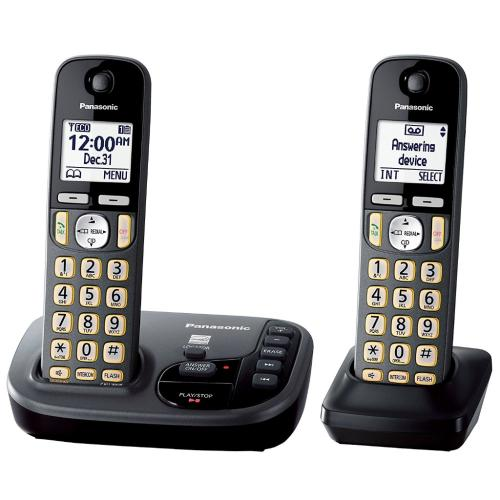 KXTGD222M Cordless Phone With Answering Machine - 2 Handsets