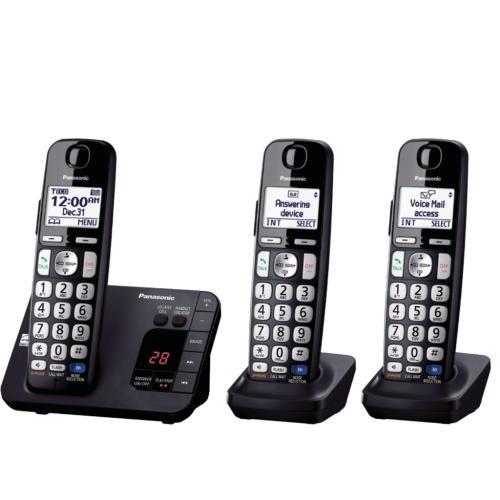 KXTGE233B Dect 6.0 Expandable Cordless Phone W/large Keypad