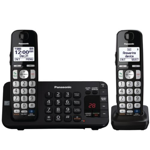 KXTGE243B Expandable Cordless Phone With Noise Reduction