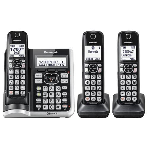 KXTGF573 Link2cell Cordless Phone W/ Answering Machine (3 Handsets)