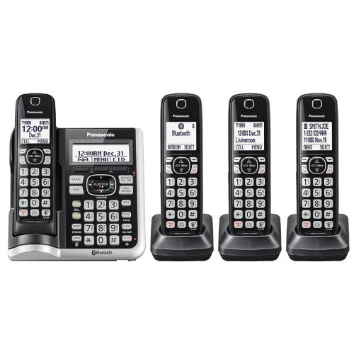 KXTGF574 Link2cell Cordless Phone W/ Answering Machine (4 Handsets)