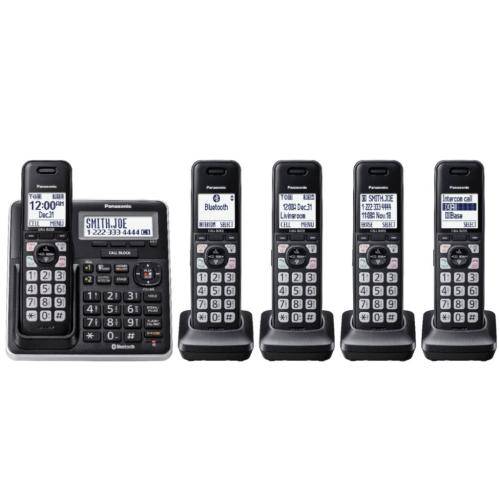 KXTGF775S Link2cell Dect6.0 Expandable Cordless Phone System