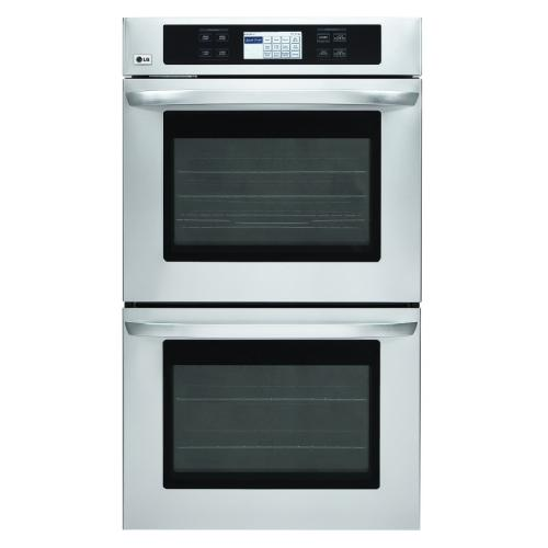 LWD3081ST 4.7(X2) Cu.ft. Capacity 30-Inch Built-in Double Wall Oven With Lcd Display And Crisp Convection