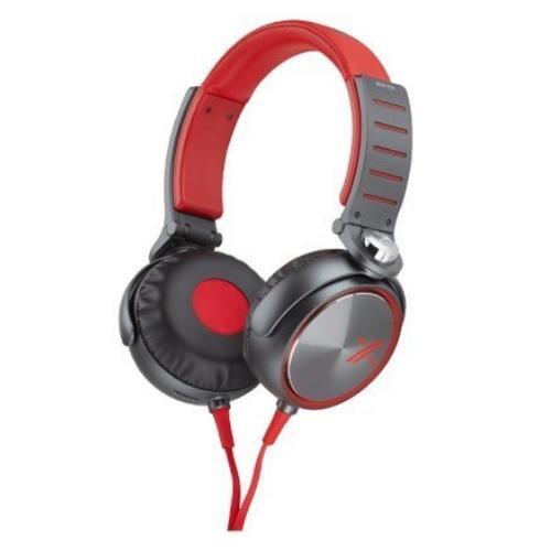 MDRX05/RB X05 Series Headphones; Red/black