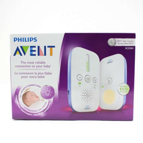 SCD501/10 Dect Baby Monitor Essential Connection Night Light