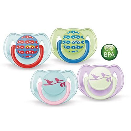 SCF172/22 Avent Classic Pacifiers 0-6M Orthodo