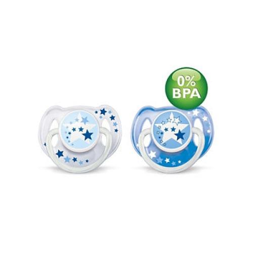 SCF176/22 Avent Night Time Pacifiers 0-6M Bpa-