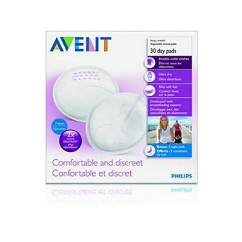 SCF254/30 Avent Disposable Breast Pads 100 Day