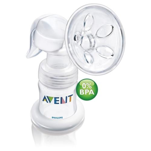 SCF310/97 Avent Manual Breast Pump Includes 4Oz Bottle