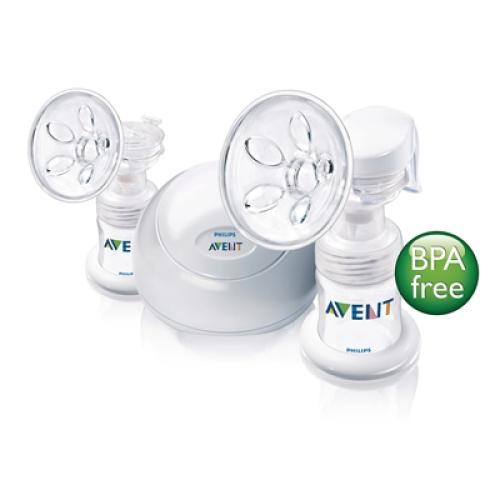 SCF314/00 Avent Twin Electronic Breast Pump Includes 2X 4Oz Bottle