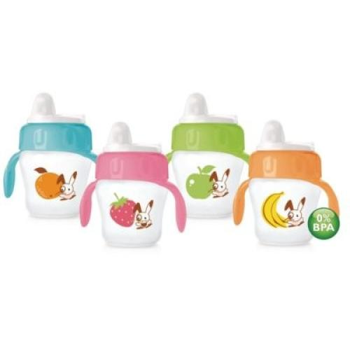 SCF606/01 Avent Avent Decorated Cup 200Ml 6M+ Soft Spout With Handles
