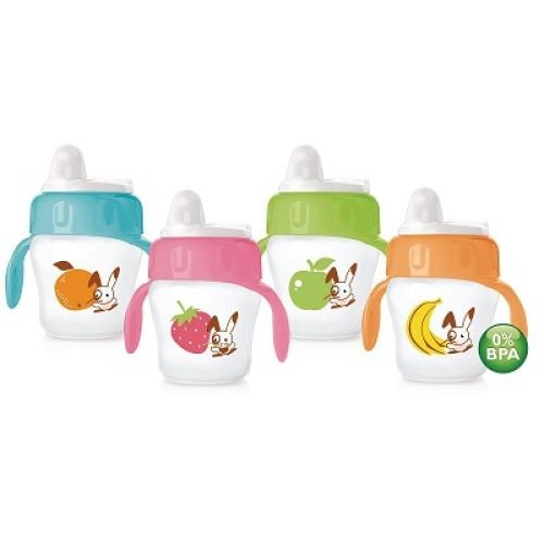 SCF606/22 Avent Avent Decorated Cup 200Ml 6M+ Soft Spout With Handles