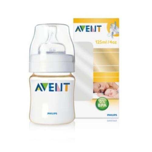 SCF660/17 Avent Feeding Bottle 1 Advanced Classic 125Ml Newborn Nipple