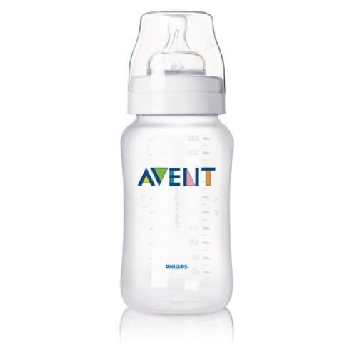 SCF686/25 Avent Feeding Bottle 1 Classic 11Oz Variable Flow Nipple