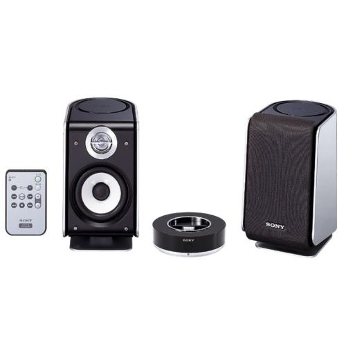 SRSNWZ10 2-Way Active Speaker System With Cradle, W/ir Remote Control.